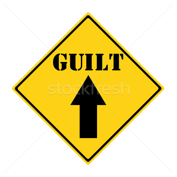 Guilt that way Sign Stock photo © mybaitshop