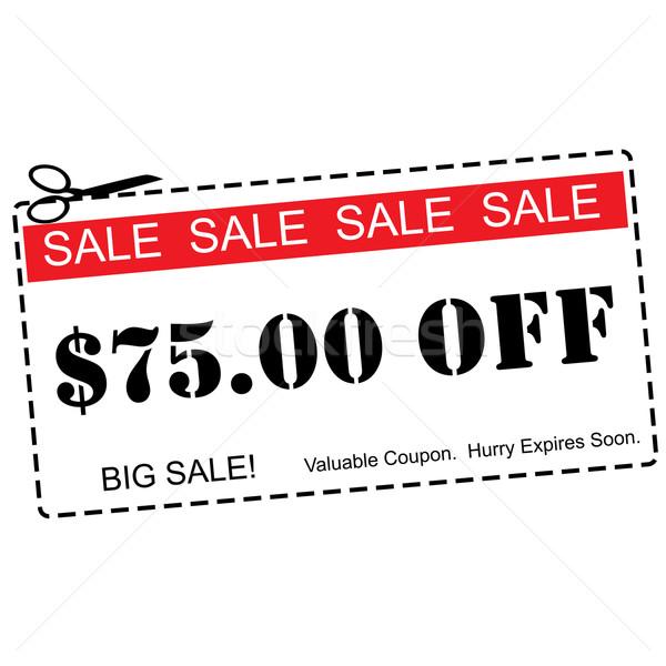 Beş dolar satış kırmızı Stok fotoğraf © mybaitshop