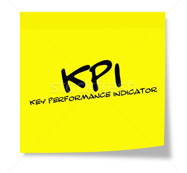 öntapadó jegyzet kulcs előadás index írott citromsárga Stock fotó © mybaitshop