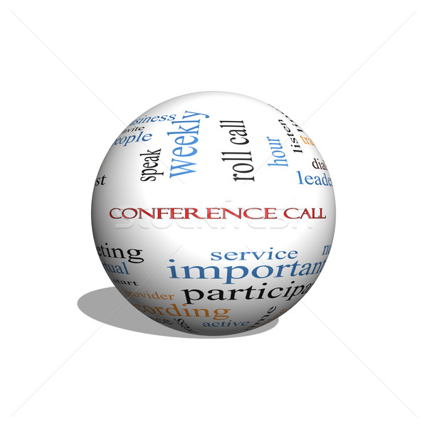 Conference Call 3D sphere Word Cloud Concept Stock photo © mybaitshop