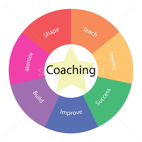Coaching circular concept with colors and star Stock photo © mybaitshop