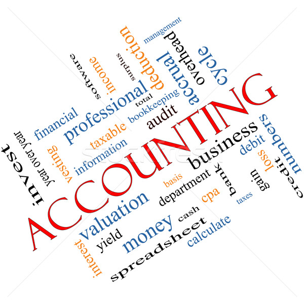 Accounting Word Cloud Concept Angled Stock photo © mybaitshop