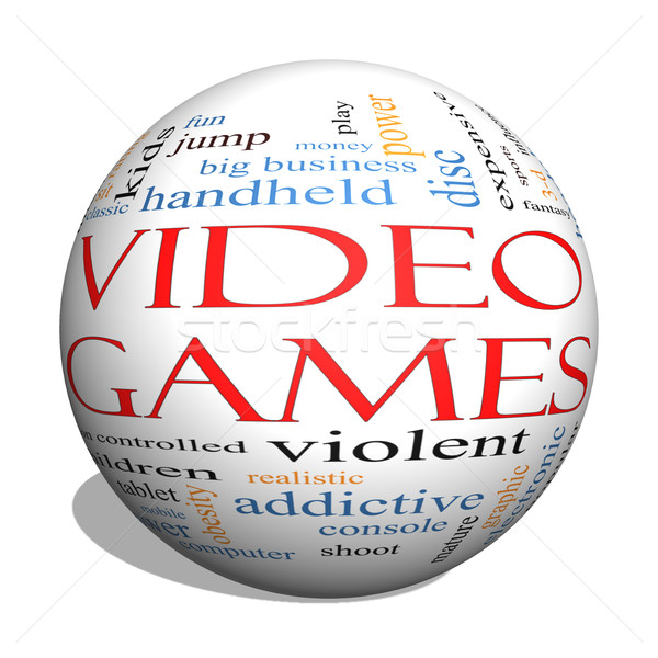 Video Games 3d sphere Word Cloud Concept Stock photo © mybaitshop