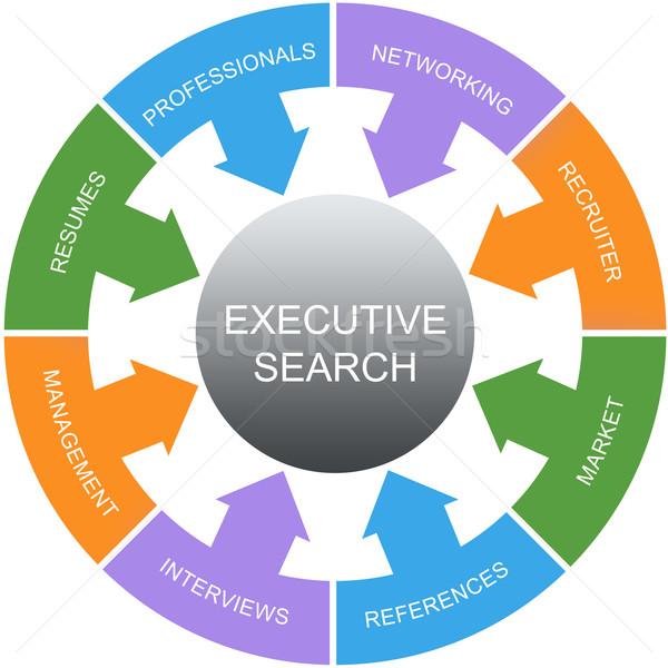 Executive Search Word Circles Concept Stock photo © mybaitshop
