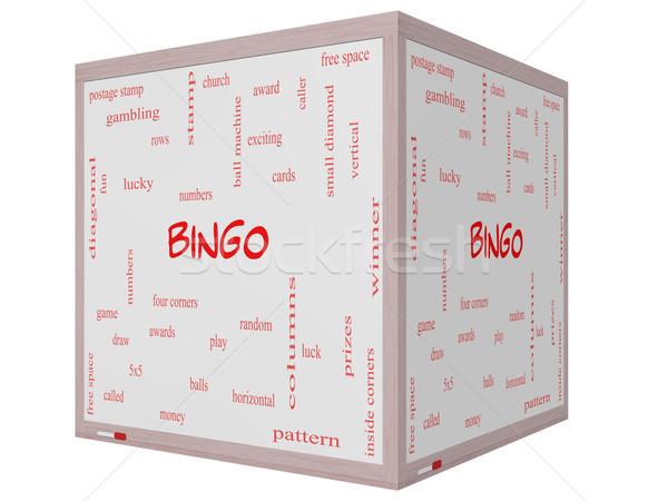 Bingo nuvem da palavra 3D cubo Foto stock © mybaitshop