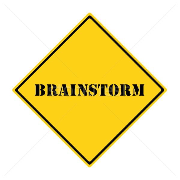 Brainstorming Sign Stock photo © mybaitshop
