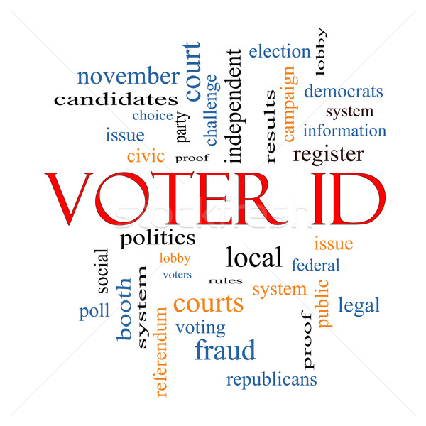 Voter ID Word Cloud Concept  Stock photo © mybaitshop