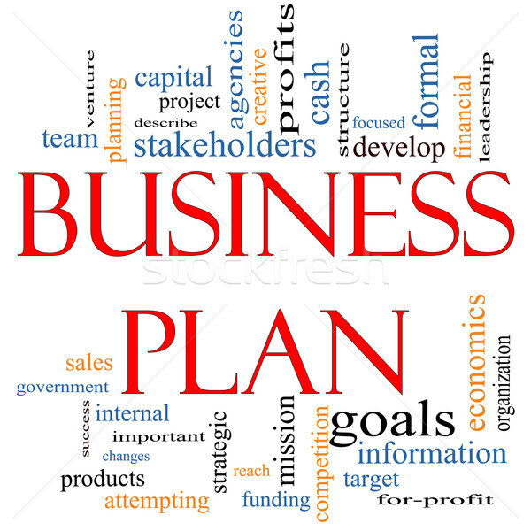 Business plan woordwolk groot project Stockfoto © mybaitshop