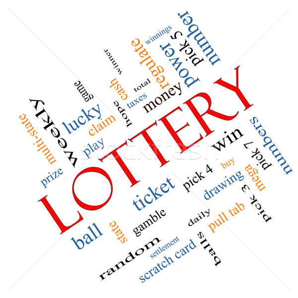 Lottery Word Cloud Concept Angled Stock photo © mybaitshop