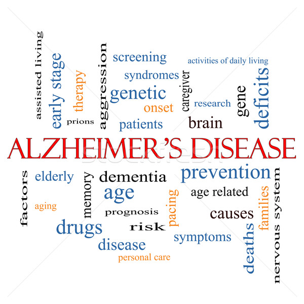 Alzheimer's Disease Word Cloud Concept Stock photo © mybaitshop
