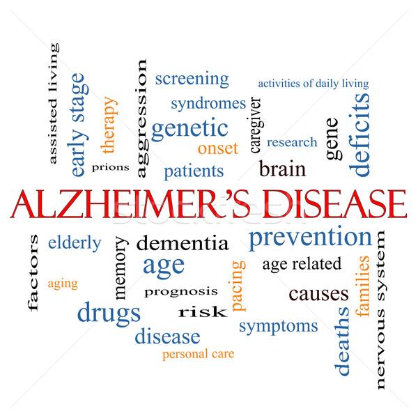 Stock fotó: Alzheimer-kór · szófelhő · nagyszerű · idős · genetikai · elmebaj