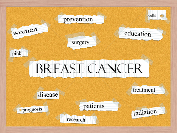 Breast Cancer Corkboard Word Concept Stock photo © mybaitshop