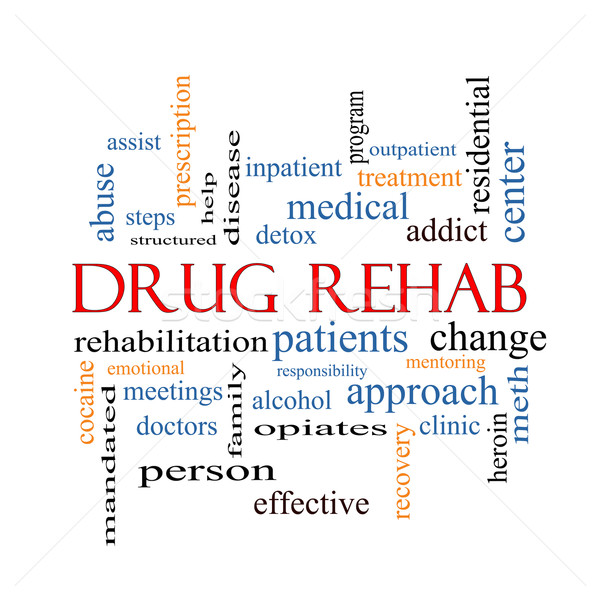 Drug Rehab Word Cloud Concept Stock photo © mybaitshop