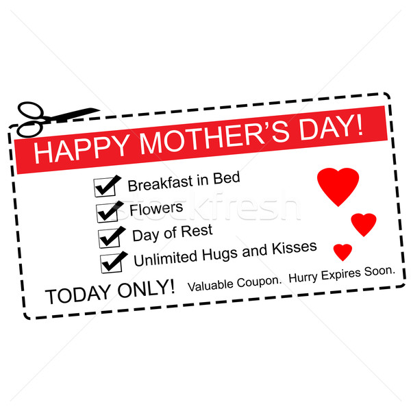 Happy Mother's Day Coupon Concept Stock photo © mybaitshop