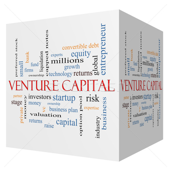 Venture Capital 3D cube Word Cloud Concept Stock photo © mybaitshop