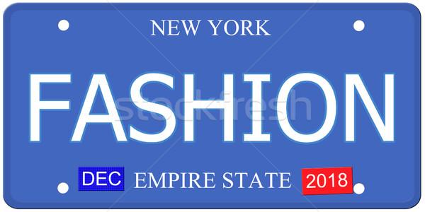 New York moda imitazione targa parola Foto d'archivio © mybaitshop