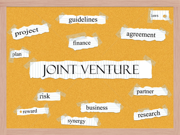 Joint Venture Corkboard Word Concept Stock photo © mybaitshop