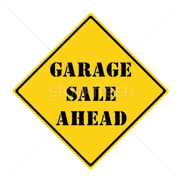 гаража продажи впереди знак желтый черный Сток-фото © mybaitshop