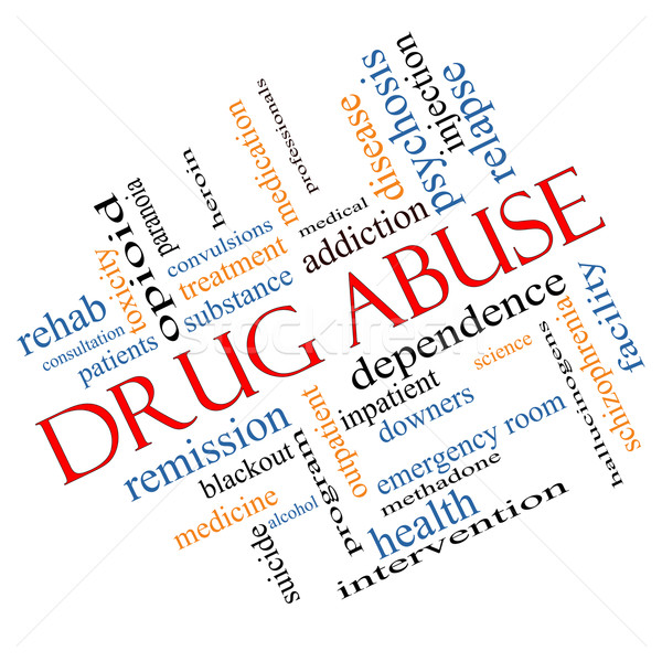 Drug Abuse Word Cloud Concept Angled Stock photo © mybaitshop