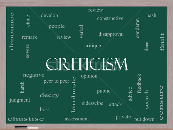 Criticism Word Cloud Concept on a Blackboard Stock photo © mybaitshop