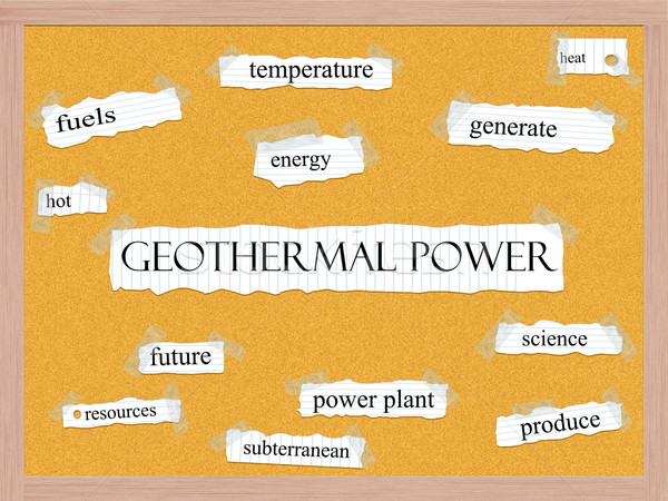 Geothermal Power Corkboard Word Concept Stock photo © mybaitshop