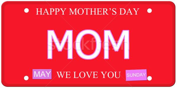 Mamá madres día placa escrito imitación Foto stock © mybaitshop