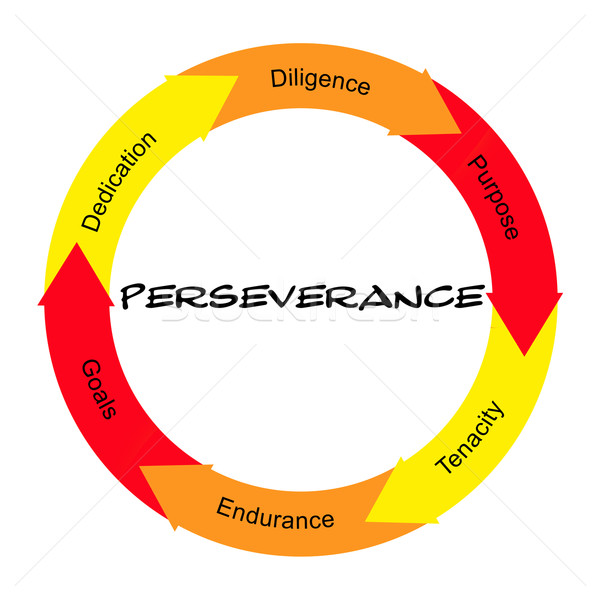 Perseverance Word Circle Concept Scribbled Stock photo © mybaitshop