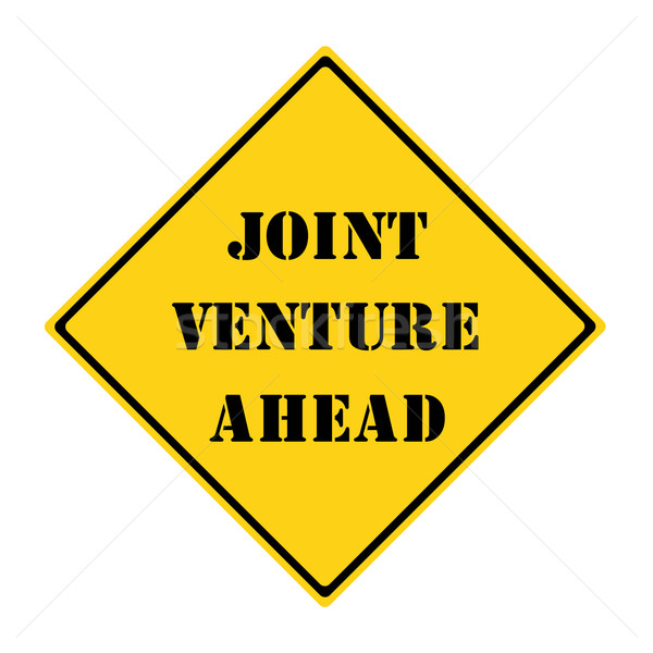 Joint Venture Ahead Sign Stock photo © mybaitshop