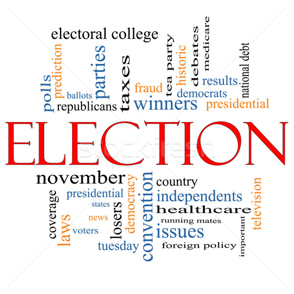 Election Concept Word Cloud Stock photo © mybaitshop