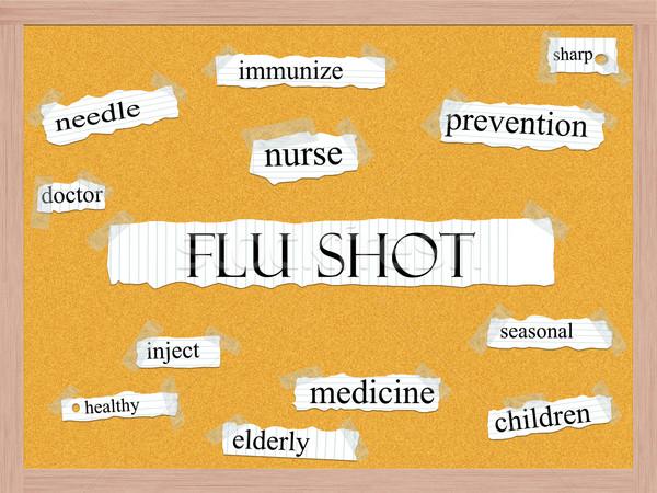 Flu Shot Corkboard Word Concept Stock photo © mybaitshop