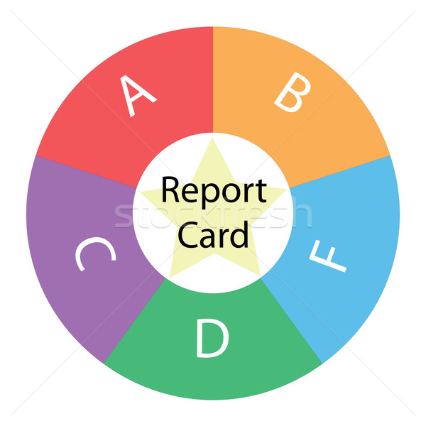 Report Card Grades circular concept with colors and star Stock photo © mybaitshop