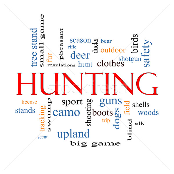 Hunting Word Cloud Concept Stock photo © mybaitshop