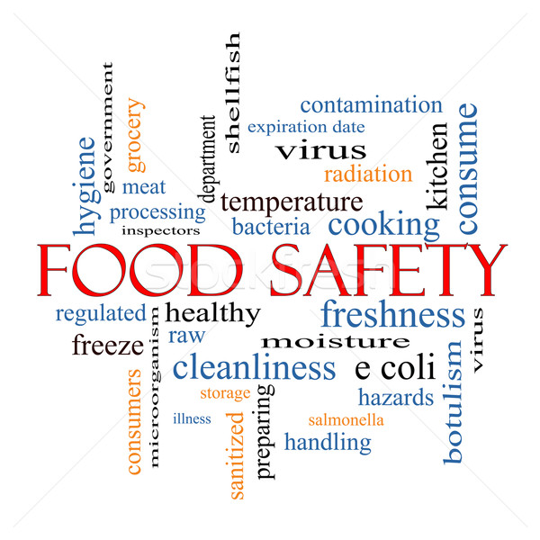 Food Safety Word Cloud Concept Stock photo © mybaitshop