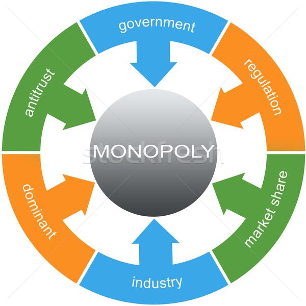 Monopole mot magnifique gouvernement réglementation Photo stock © mybaitshop