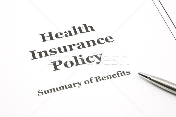 Seguro de saúde caneta pronto assinatura documentos Foto stock © mybaitshop