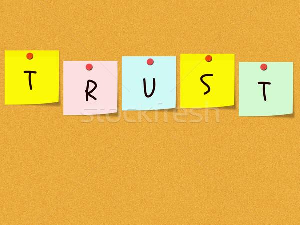доверия пробка бюллетень совета слово из Сток-фото © mybaitshop