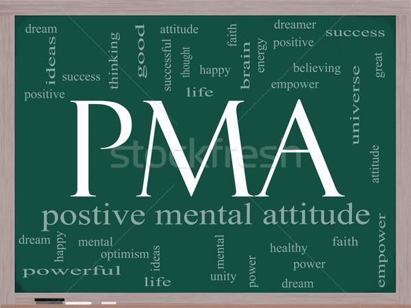 PMA Word Cloud Concept on a Chalkboard Stock photo © mybaitshop