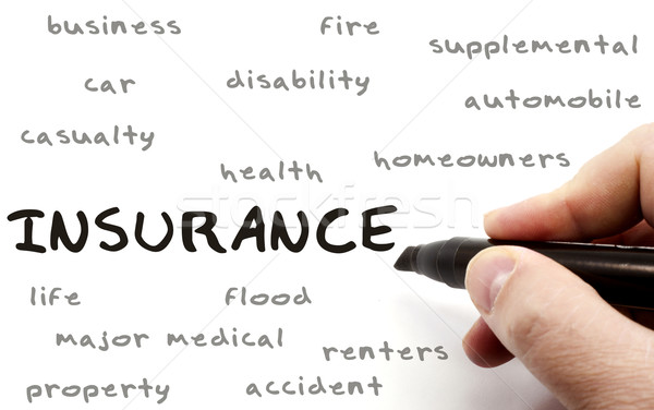 Insurance Word Cloud on Dry Erase Board Stock photo © mybaitshop