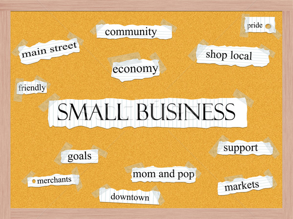малый бизнес слово сообщество магазин местный Сток-фото © mybaitshop