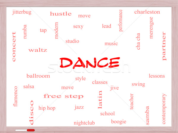 Dance Word Cloud Concept on a Whiteboard Stock photo © mybaitshop