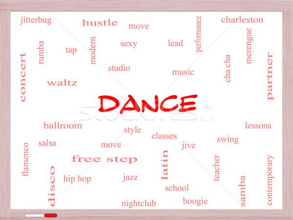 Dans kelime bulutu muhteşem müzik balo salonu Stok fotoğraf © mybaitshop