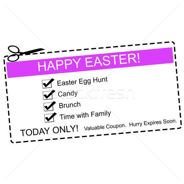 Happy Easter Coupon Concept Stock photo © mybaitshop