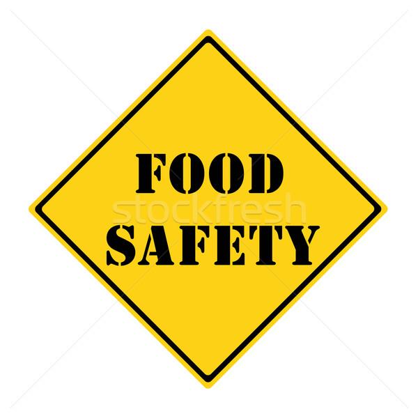 безопасности пищевых продуктов знак желтый черный Diamond Сток-фото © mybaitshop