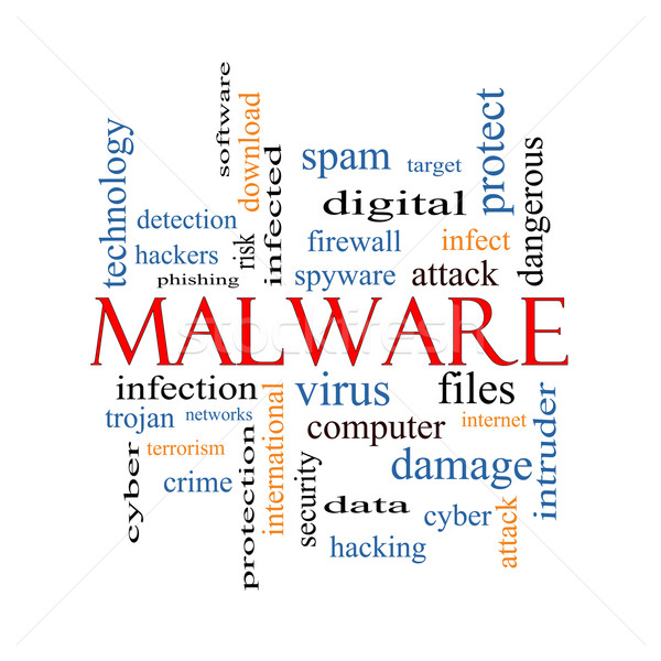 Malware nuage de mots magnifique trojan virus infection Photo stock © mybaitshop