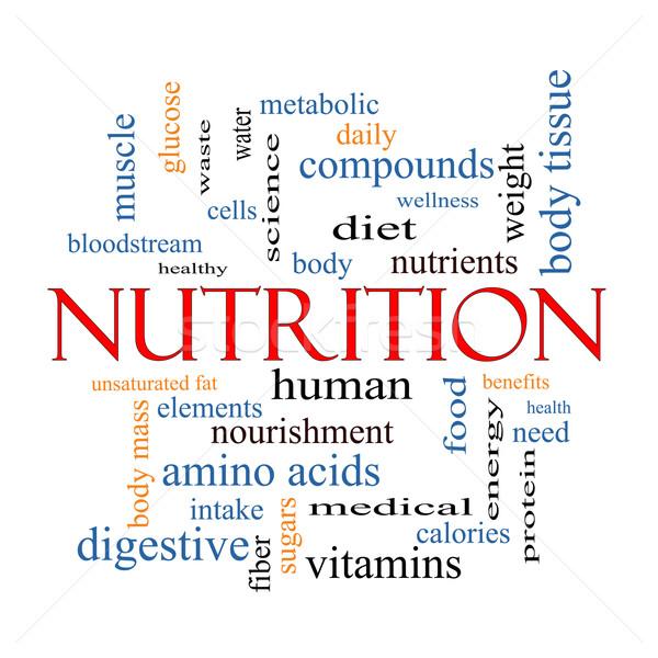 Nutrition Word Cloud Concept Stock photo © mybaitshop