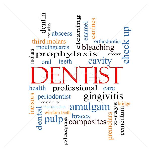 Dentist Word Cloud Concept Stock photo © mybaitshop