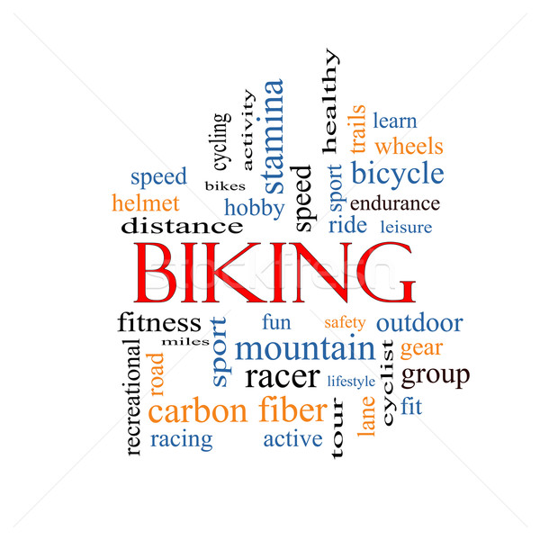 Biking Word Cloud Concept Stock photo © mybaitshop