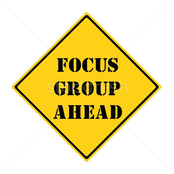 Groupe de discussion signe jaune noir diamant Photo stock © mybaitshop