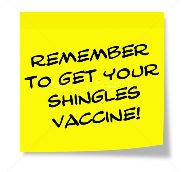 リマインダー 書かれた 黄色 付箋 ワクチン ストックフォト © mybaitshop