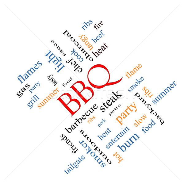 BBQ Word Cloud Angled Stock photo © mybaitshop